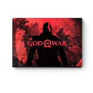 Quadro decorativo MDF God Of War Kratos Vermelho