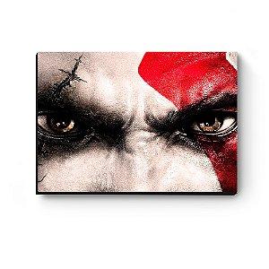 Quadro decorativo MDF God Of War Kratos Olhos