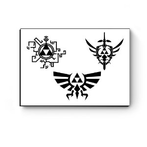 Quadro decorativo MDF Legend Of Zelda Triforce