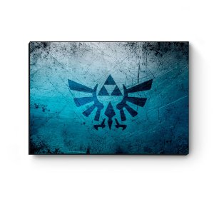 Quadro decorativo MDF Legend Of Zelda logo azul