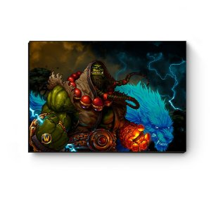 Quadro decorativo MDF World Of Warcraft Thrall I