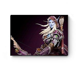 Quadro decorativo MDF World Of Warcraft Sylvanas I