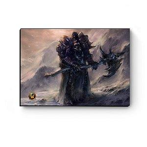 Quadro decorativo MDF World Of Warcraft Orc I