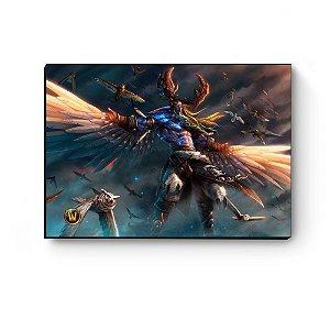 Quadro decorativo MDF World Of Warcraft Malfurion I