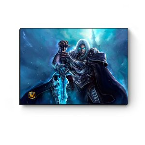 Quadro decorativo MDF World Of Warcraft Arthas III