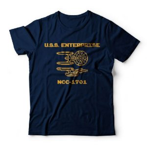 Camiseta Star Trek Enterprise 8 Bits