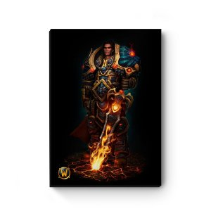Quadro decorativo MDF World Of Warcraft Varian II