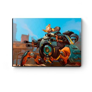 Quadro decorativo MDF Overwatch Wrecking Ball MOD 2