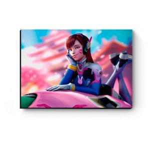 Quadro decorativo MDF Overwatch D.Va