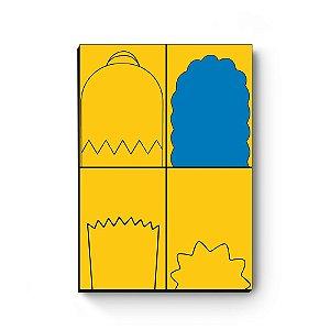 Quadro decorativo MDF Simpsons Cabelos