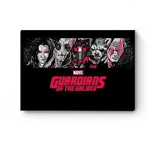Quadro decorativo MDF Guardiões da Galaxia Personagens