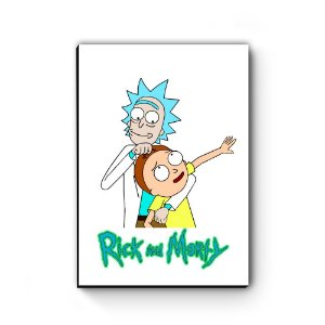 Quadro decorativo MDF Rick and Morty Mod 1