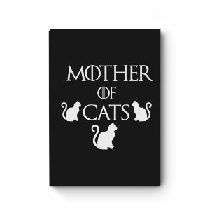 Quadro decorativo MDF Khaleesi Mother of Cats Black