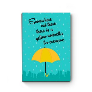 Quadro decorativo MDF Yellow Umbrella