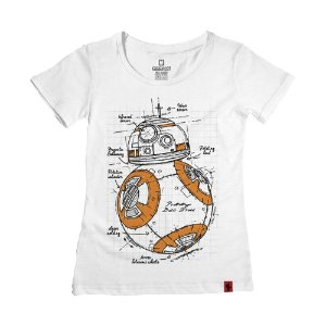 Camiseta Feminina Orange Droid