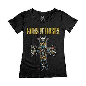 Camiseta Feminina Guns N Roses Appetite