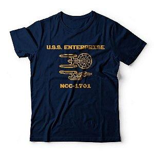 Camiseta Star Trek Enterprise 8 Bits