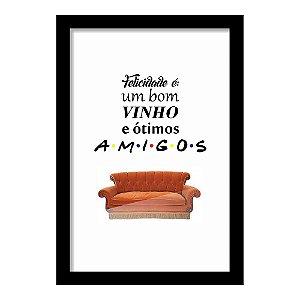Quadro Porta Rolhas de Vinho Amigos