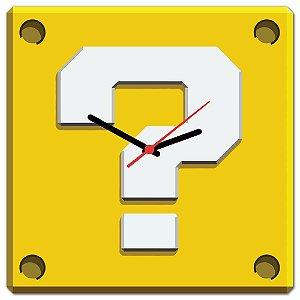 Relógio de Parede Interrogação