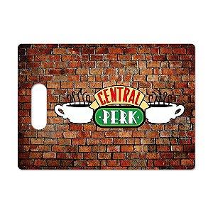 Tábua de Carne de Vidro 35x25 Central Perk