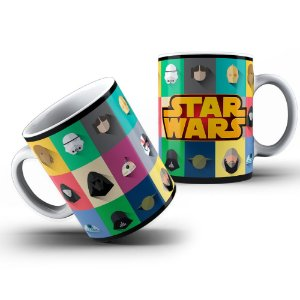 Caneca Star Wars Personagens