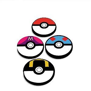 Porta Copos Em MDF Pokemon Pokebolas
