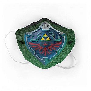 Máscara de Tecido Geek Escudo Zelda