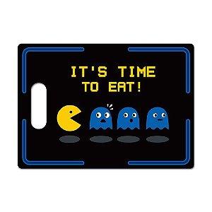 Tábua de Carne de Vidro Churras 35x25 Pac-Man