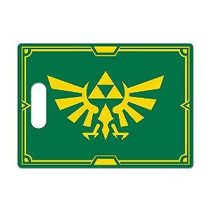 Tábua de Carne de Vidro Churras 35x25 Zelda Escudo