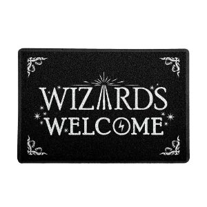 Capacho 60x40cm Vinil HP Wizards Welcome
