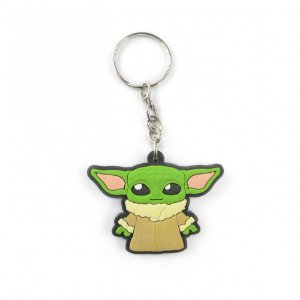 Chaveiro emborrachado Baby Yoda