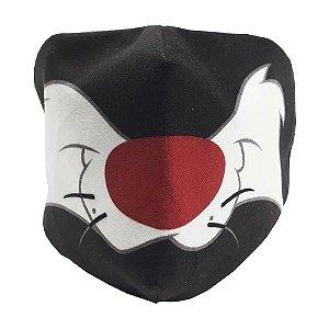 Máscara de proteção veludo Frajola