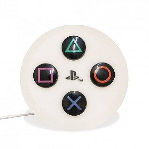 Luminária Playstation Botão branco