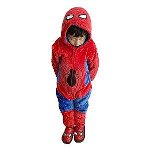 Macacão Kigurumi Infantil Spiderman de 3 a 4 anos