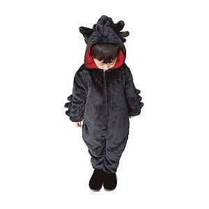 Macacão Kigurumi Infantil Dragão Banguela de 7 a 8 anos