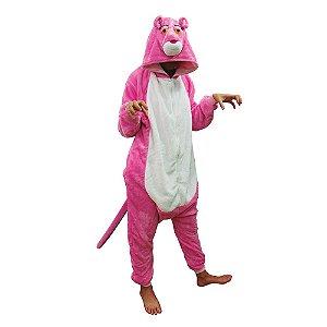 Macacão Kigurumi Pantera Cor de Rosa