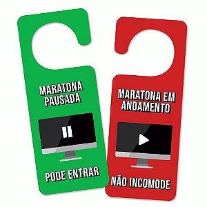 Aviso de Porta Maratona Geek