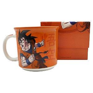 Caneca tom 350ml Goku símbolo