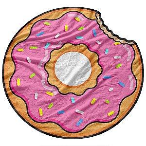 Toalha de Praia estilo Canga Donut Morango