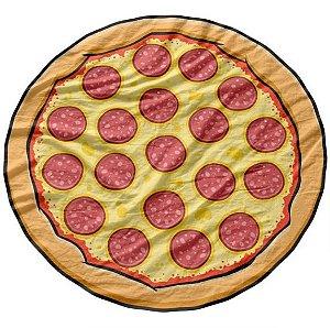 Toalha de Praia estilo Canga Pizza Pepperoni