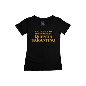 Camiseta Feminina Written and Directed By Quentin Tarantino