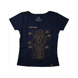 Camiseta Feminina Project Infinity Gauntlet