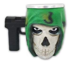 Caneca 3d Call Of Duty Com Alça Pistola