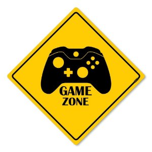 Placa Decorativa Game Zone