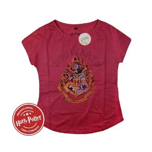 Camiseta Feminina Harry Potter Hogwarts