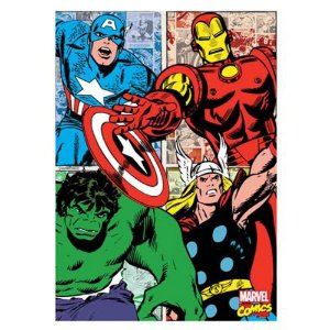 Quadro Canvas 70X50 Herois  Comics