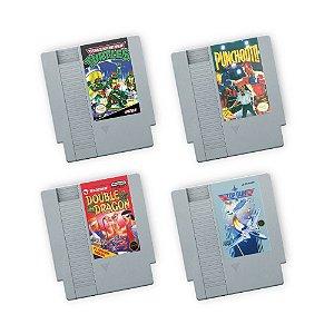 Porta Copos de Acrílico Fitas Nintendo Kit 02
