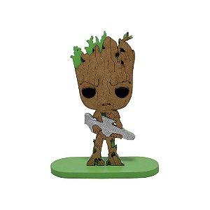 Boneco Laqueado Guardiões da Galaxia Groot