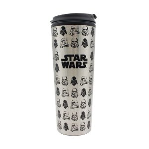 Copo viagem metal Stormtrooper e Vader - 450ml