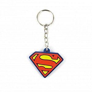 Chaveiro emborrachado Símbolo Superman